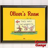 Personalized Curious George Wall Plaque - 11598