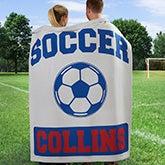 Personalized Sports Fleece Sweatshirt Blankets - Football, Baseball, Basketball - 11601
