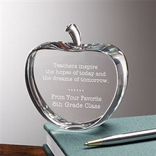 Personalized Crystal Apple Teacher Gift - 11610