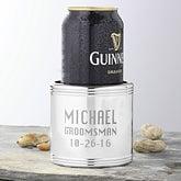 Personalized Silver Beverage Coolers - Groomsmen Design - 1162