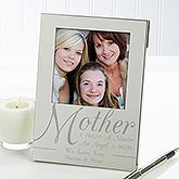 Engraved Silver Picture Frames - For My Mother - 11621