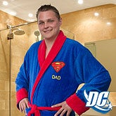 Superman Embroidered Luxury Robe