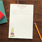 Personalized Teacher Notepad - Wise Owl - 11632
