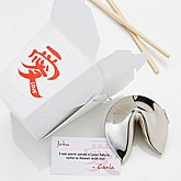 Personalized Silver Fortune Cookie Gift - Fortunes of Love Design  - 1165