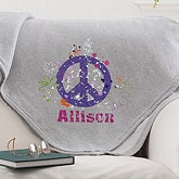 Personalized Sweatshirt Blankets - Peace Sign - 11660