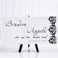 Personalized Wedding Canvas Art - Wedding Couple - 11673