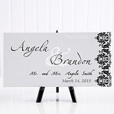 The Wedding Couple Personalized Canvas Print- 5 x 11