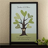 Personalized Canvas Art for Couples - Leaves of Love - 11675
