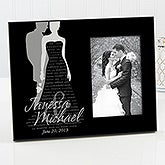Personalized Wedding Picture Frames - Bride & Groom Silhouette - 11677