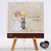 Personalized Precious Moments Bride & Groom Canvas Art - 11680
