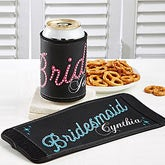 Personalized Bridal Part Can & Bottle Wraps - Rhinestones - 11683