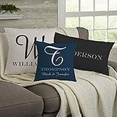 Personalized Throw Pillows - Family Monogram - 11686