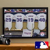 Personalized Texas Rangers MLB Baseball Locker Room Canvas - 11695