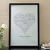 Personalized Canvas Art - Wedding Vows - 11696