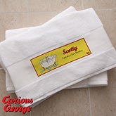Personalized Kids Bath Towels - Curious George - 11702