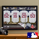 Personalized Boston Red Sox MLB Baseball Locker Room Canvas - 11703
