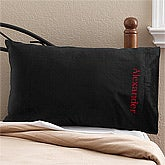 Personalized Micro-Fleece Pillowcase - Black - 11704