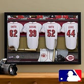 Personalized Cincinatti Reds MLB Baseball Locker Room Canvas - 11706