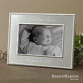 Personalized Silver Baby Picture Frames - Reed & Barton - 11710