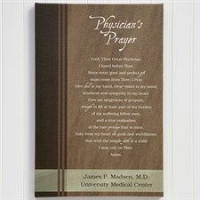Personalized Canvas Artwork - Physician's Prayer - 11713