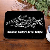 Personalized Fishing Mouse Pad - What A Catch - 11715