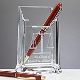 Personalized Law Office Pen Holder - 11716