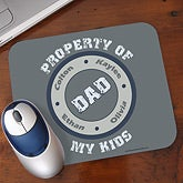 Personalized Mouse Pads - Property of My Kids - 11722