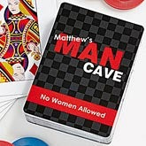 Personalized Playing Cards - Man Cave - 11726