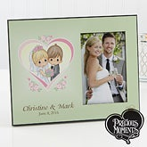 Personalized Wedding Picture Frames - Precious Moments Heart - 11740