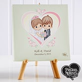 Personalized Precious Moments Wedding Heart Canvas Art - 11744