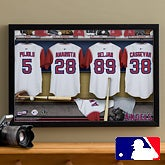 Personalized LA Angels MLB Baseball Locker Room Canvas - 11750