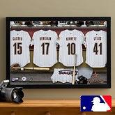Houston Astros Personalized MLB Baseball Locker Room Canvas - 12x18