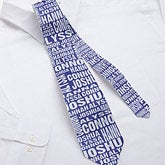 Personalized Men's Ties - Repeating Name - 11758