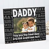 Personalized Picture Frames for Him - Repeating Name - 11759