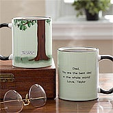 Personalized Coffee Mugs for Fathers - Acorn and Oak Tree - 11764