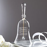 Personalized Crystal Wedding Bell - Mr. and Mrs. - 11771