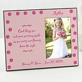 Personalized Pink Flower Girl Picture Frame - 1178