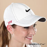 Ladies Personalized Golf Hat - White Nike Dri-Fit - 11782