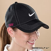 Personalized Womens Golf Hat - Black Nike Dri-Fit - 11783