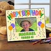Custom Kids Birthday Picture Frame - Happy Birthday Balloon Design - 1179