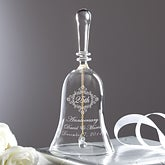 Personalized Crystal Anniversary Bell - Anniversary Memento - 11795