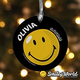 Personalized Smiley Face Christmas Ornaments - 11817