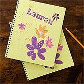 Girls Personalized Notebooks - Flowers - 11832