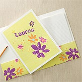 Personalized Girls Folders - Flowers - 11834