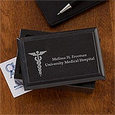 Personalized Marble Business Card Holders for Doctors - 11838