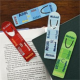 personalized kids bookmarks all mine