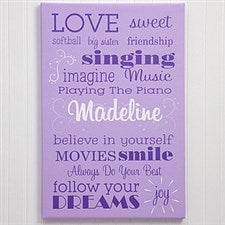 Personalized Canvas Art for Girls - Her Life - 11860