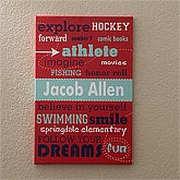 Boys Personalized Canvas Art - His Life - 11861