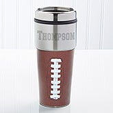 Personalized Football Travel Mug - 11914