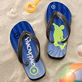 Personalized Boys Flip Flop Sandals - Skateboarding - 11917